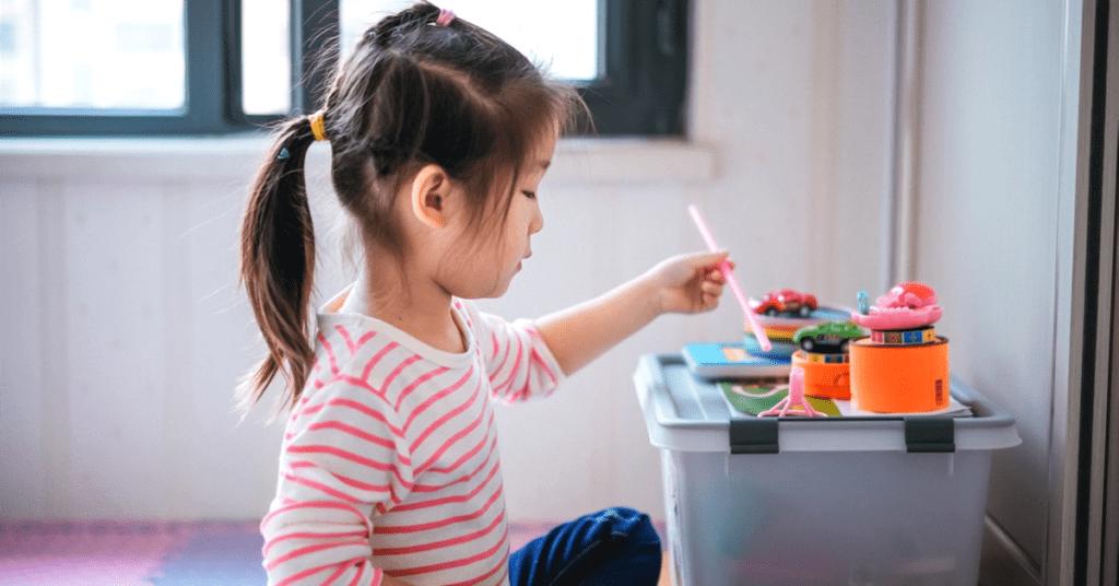 Kid playing indoor