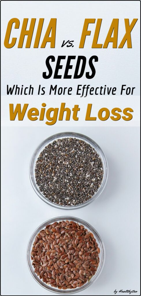 Chia or flax seeds for weight loss