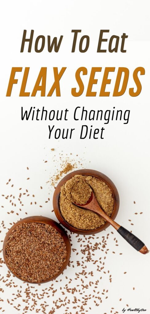 Whole and ground flax seeds