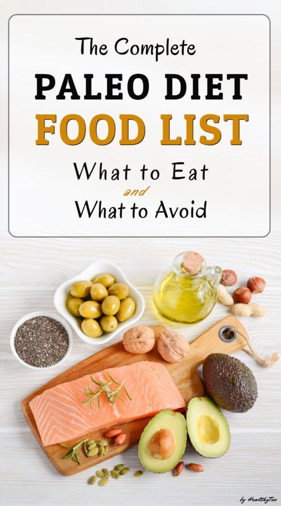 Complete paleo diet food list
