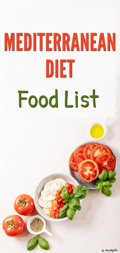 Foods to eat and avoid on the Mediterranean diet