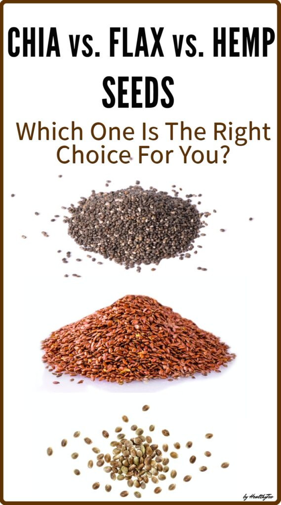 Chia, flax and hemp seeds: which is better for you